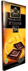 Шоколад тёмный J.D. Gross Ecuador 70% Edelcacao Orange, апельсин, 125 гр.
