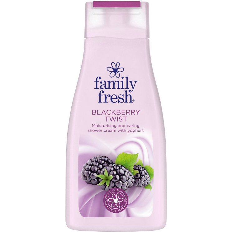 Гель для душа Family Fresh blackberry twist, ежевика, 500 мл.