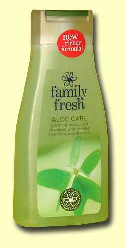Гель для душа Family Fresh aloe care, алоэ-вера, 500 мл.