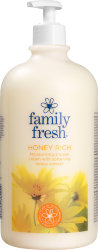 Крем гель для душа Family Fresh honey rich, с экстрактом мёда, 1 л.