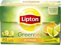 Чай зеленый Lipton Bright Citrus Green tea, 20 пак.