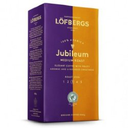 Кофе молотый Lofbergs Jubileum Medium Roast, 3 ст. обжарки, 500 гр.