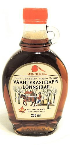 Кленовый сироп VAAHTERASIIRAPPI LONNSIRAP Pure Canadian Maple Syrup, 250 гр.