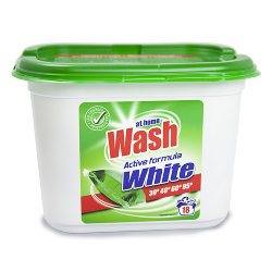 Капсулы для стирки белого белья At Home Wash Active Formula White, 16 шт.