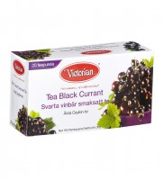 Чай черный Victorian Tea Black Currant, 180 гр.