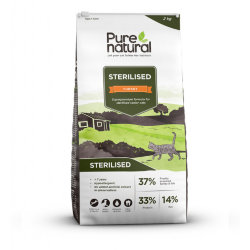 Сухой корм Purenatural Cat Sterilized Senior Turkey, 2 кг.