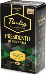 Кофе молотый Paulig Presidentti Black Label, 450 гр.