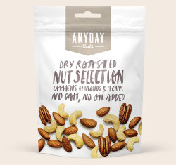 Орехи Anyday Nuts Selection, 140 грамм.