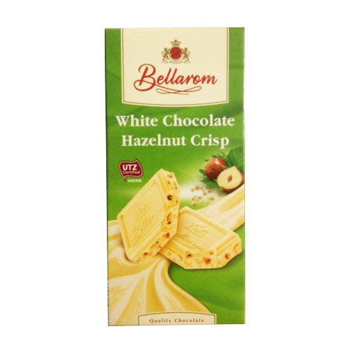 Шоколад белый Bellarom White Chocolate Hazelnut Crisp, 200 гр.