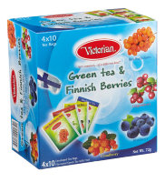 Чай зеленый Victorian Green tea Finish berries, 4х10 пак.