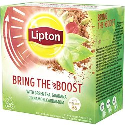 Чай зеленый Lipton Bring the Boost, 20 пак.