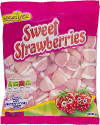 Мармелад Sugar Land Sweet Srawberries, клубника, 300 гр.