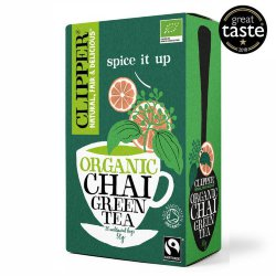 Чай зеленый Clipper Organic chai green tea, 20 пак.