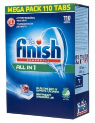 Таблетки Finish All In One, 110 шт.