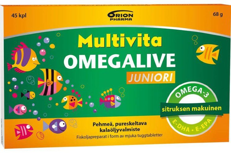 Витамины Multivita Omegalive Juniori с витамином D, 45 шт.