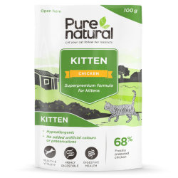 Паучи для котят Purenatural Kitten Chicken, цыпленок, 100 гр.