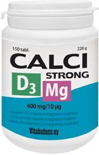 Calci Strong + D3 + Mg, кальций, магний и витамин D3, 150 табл.