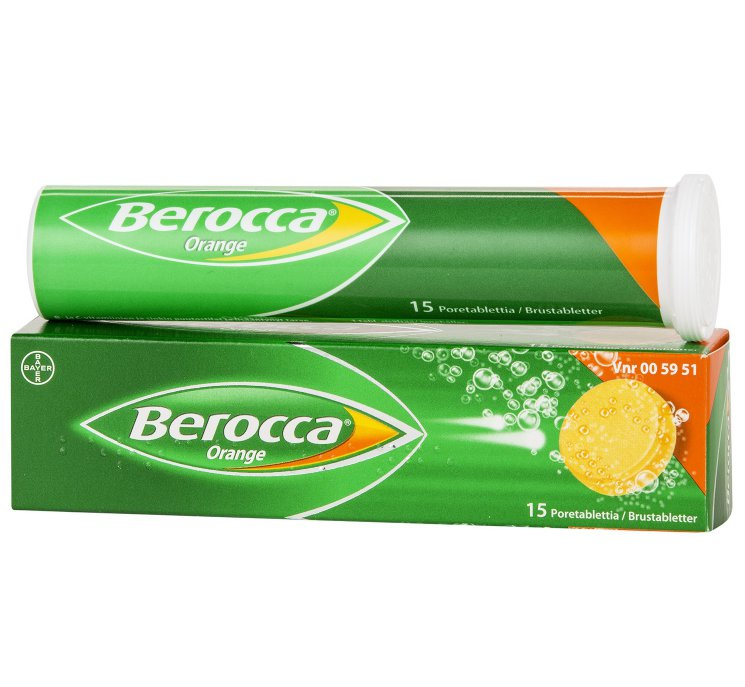 Поливитамины Bayer Berocca orange с 11 лет, 15 табл.