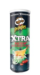 Чипсы Pringles Xtra kickin sour cream & onion, сметана и лук, 175 гр.