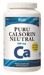 Кальций Puru Calsorin Neutral 500 mg, 100 табл.