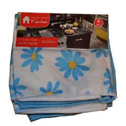 Салфетки для кухни микрофибра Kitchen Microfibre, 4 шт.
