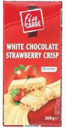 Шоколад белый Fin Carre White Chocolate Strawberry Crisp, 200 гр.