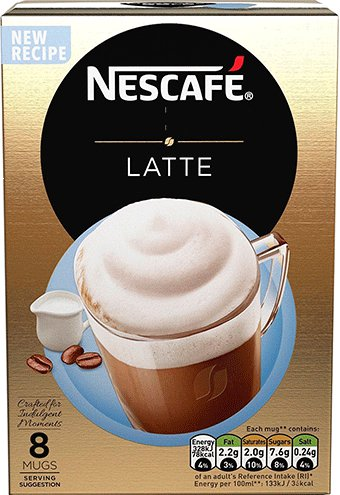 Кофе растворимый Nescafe Latte, 144 гр.